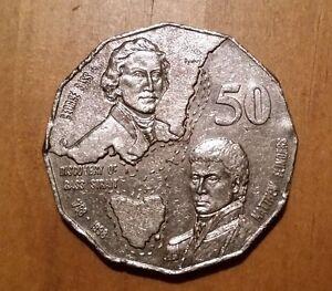 Rare~ 1998 50 Cent Coin~Australian Bass And Flinders ~Nice example