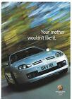 MG TF 2002 UK Market Launch Supplement Brochure 160 135 120 Stepspeed 115