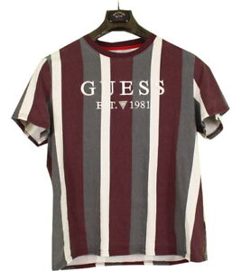 Guess Vintage Style T-Shirt Medium New Age Burgundy