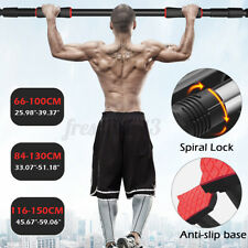 Adjustable Pull Up Bar Home Fitness Body Training Equipment Chin Up Workout Door
