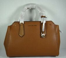 Michael Kors Hayes Luggage Leather Large Satchel Crossbody Purse