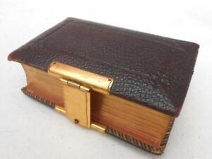 SUPER QUALITY ANTIQUE LEATHER & BRASS PRAYER BOOK 1870 CHURCH SERVICES BIBLE No2