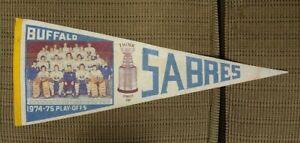 Buffalo Sabres NHL Hockey FULL SIZE PENNANT VINTAGE Team Photo 1974-75 Perreault