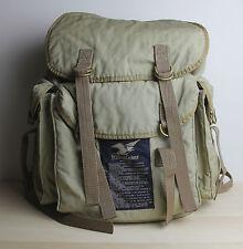 Vintage WILLIS & GEIGER Cotton Bush Poplin Backpack Rucksack Khaki Safari Bag