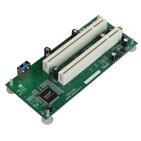 PCI Express PCI-e to Dual PCI Adapter Card PCIE PCI Slot Expansion Riser Card
