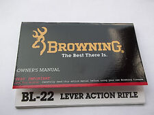 BROWNING OWNERS MANUAL FOR A BL-22 LEVER ACTION RIFLE, 12 pages of information