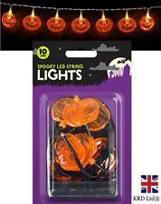 PUMPKIN LED Halloween String Fairy Lights Outdoor Party Decor Hanging Prop UK