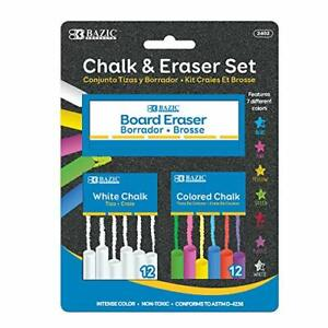 Chalkboard Eraser Chalk 12 Pc Chalkboard Eraser Bundle Non-Toxic Kids Art 1-Pack