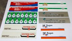 Winross Truck Side Panels USF Dugan, Trend Mills, Lucky Leaf, Western Auto, Xmas