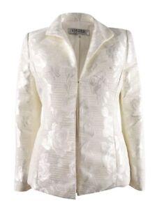 Kasper Women's Petite Embroidered Blazer 10P, Ivory