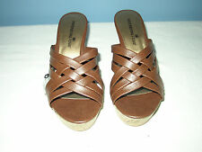 Montego Bay Club Brown Wedge Heel - Size 6W