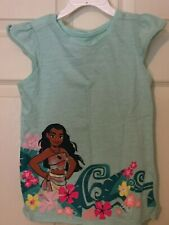 Disney Girls 6X Girls Shirt with Mauna on front! Cute trim on sleeves