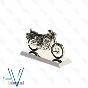 For Royal Enfield Bullet 500cc Bike 2d Scale Model Green @UK