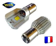 1 ampoule moto BA20D H6 HILO Led 12V Bi-Leds COB blanc xénon 800 lumens