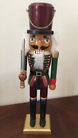 """Wood 15"""" Tall Traditional Nutcracker Soldier With Sword"""