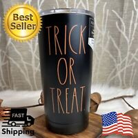 Rae Dunn BLACK Coffee CUP TRICK OR TREAT Halloween Stainless Tumbler w/ Lid 17oz