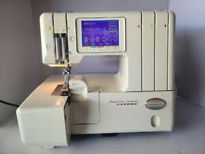 LOT Janome Memory Craft Compulock 888 Five Thread Serger Sewing Machine TESTED