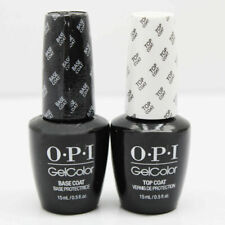 OPI GelColor Top And Base Coat UV Nail Varnish-Base & Top 0.5oz/15ml Bottles Set