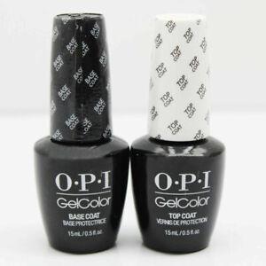 OPI GelColor Top And Base Coat UV Nail Varnish-Base & Top 0.5oz/15ml Bottles Set