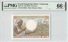 French Equatorial Africa / Cameroun ND (1957) P-31 PMG Gem UNC 65 EPQ 50 Francs
