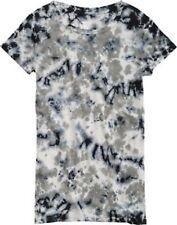 Women's Girl's Burton Kaleidoscope Premium Tie Dye T Tee Shirt Smog Grey Size XS