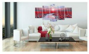 'The River of Love' Graphic Art Print Multi-Piece Image on Glass 50 X 100cm