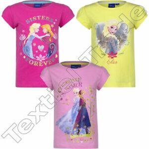 LOT de 3 ! T-shirt fille  ANNA  ELSA , Frozen , manches courtes 4 ou 6 ans coton
