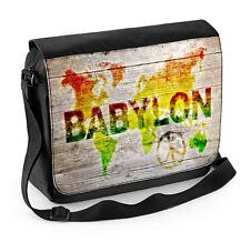 Reggae World Map Laptop Messenger Bag - Rasta Bob Marley