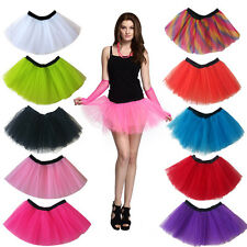 3Layers Adult Women Tutu Tulle Skirt Petticoat Dance Halloween Party Fancy Dress