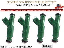 4 Fuel Injectors OEM BOSCH for 2004-2005 Mazda 3 2.3L I4  #0280156193