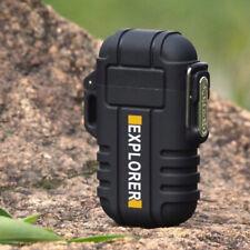 Rechargeable Double Plasma Arc Survival Lighter - Windproof, Waterproof