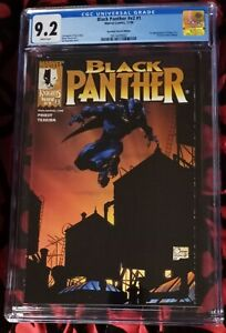 1998 Marvel comic book BLACK PANTHER #1 * Dynamic Forces cover * CGC 9.2