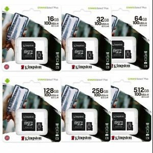 MICRO SD  KINGSTON SDCS2 CANVAS SELECT PLUS   32 64 128 25 GB  100 MB/S MEMORIA