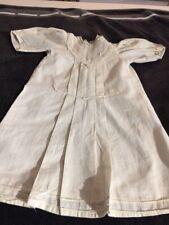 ANTIQUE cotton dress big for FRENCH doll Jumeau Steiner Bru antique lace size9-1