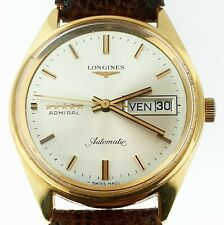 VINTAGE LONGINES ADMIRAL 5-STARS 18K ROSE-GOLD AUTOMATIC DATE ORIGINAL DIAL 1972