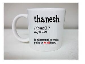 Tha Nesh Yorkshire Meaning Dictionary Fun joke tea,coffee Gift idea mug