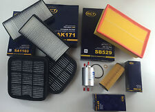 SET FILTRI / KIT DI ISPEZIONE 7 x SCT GERMANIA W210 200 COMPRESSORE 163 PS