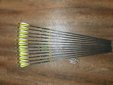 Gold Tip XT Hunter 300 Arrows With Parabolic Feathers Custom Made Set of 12