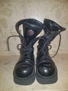 Platform Boots Vintage Swear Combat Black Rare 90s Size 6