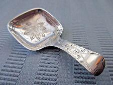 TOWLE RARE Tea CADDY Spoon 1890 AESTHETIC STERLING SILVER 925 BRIGHT Cut NO MONO