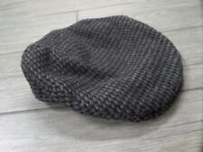 f6be4de9440 vtg 1950s Italian TWEED Cabbie Newsboy Hat LARGE Gray Houndstooth Wool