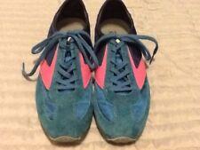 Brooks Running Shoes Womens Athletic Size 9 Medium Blue Extra Laces