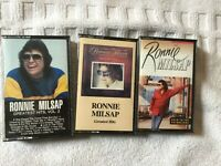 3 Ronnie Milsap Cassette Tapes: Greatest Hits 1, 2 , Back To The Grindstone