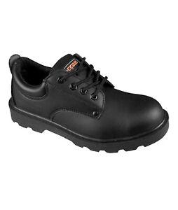 Hercules Unisex Steel Toe Uniform Shoe - Black - 230