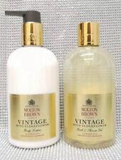 Molton Brown Vintage With Elderflower Bath & Shower Gel + Body Lotion 2x 300ml