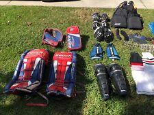 Bauer Reactor Pro Goalie Pads, Glove Set Leg Guards, Gloves, Bags, Etc