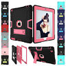 Shockproof Heavy Duty Rubber With Hard Stand Case Cover For iPad Air 5/6th Mini