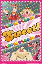 CANDY CRUSH SAGA POSTER ~ SWEET 22x34 Video Game King Facebook