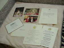 #182 WHITE HOUSE SIGNED LETTER BY RONALD REAGAN BIRTHDAY FLORIST DAVID JONES 5 L