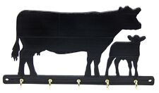 Cow Calf Cattle Livestock Farm Key Rack Hanger Holder Hooks Entryway Organizer